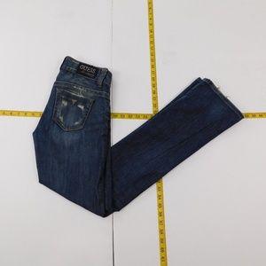 Guess 26 Blue  Denim Jeans Daredevil Bootcut C-26-